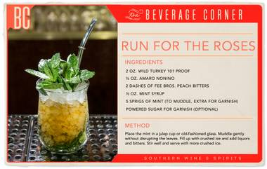 The traditional Mint Julep has been the official drink of the Kentucky Derby since the early years of the race. This recipe isn't the same one that's sipped at Churchill Downs during Derby weekend, but it's a variation on the classic that could just be as everlasting as the original.