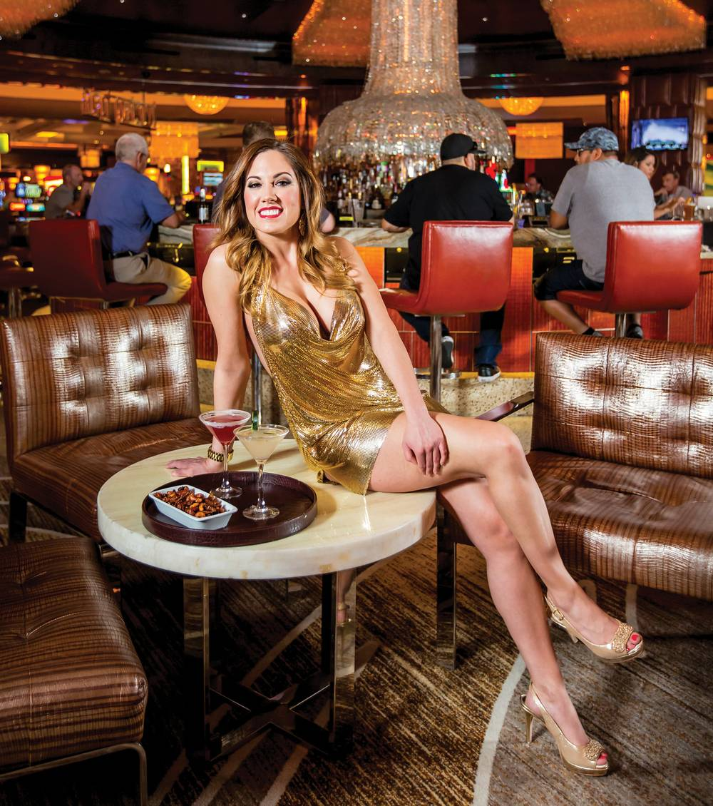 Everything Sparkles Inside Red Rock S Lucky Bar Including