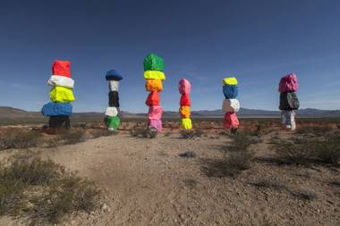 """Seven Magic Mountains"" is pulling people off the interstate."