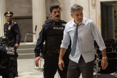 Money Monster stars George Clooney as a cable financial-advice personality taken hostage by a disgruntled viewer.