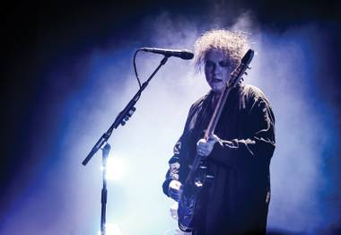 The Cure's Robert Smith, at the start of a long night.