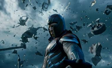 Magneto (Michael Fassbender) wreaks havoc in X-Men: Apocalypse.