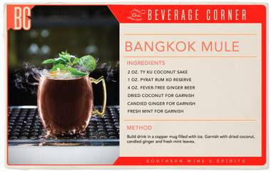 The Moscow Mule, a classic, beloved bar favorite, is getting a tropical makeover. Enter: the Bangkok Mule.