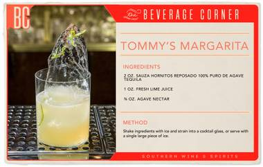 This margarita was created nearly 20 years ago by Julio Bermejo, a world-renown tequila expert and owner of Tommy's Mexican Restaurant in San Francisco.