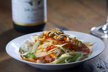 Papaya salad makes everything better.