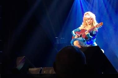 Only a week after the implosion of her former Riviera home, Charo wows the South Point crowd.
