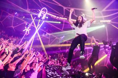 From Steve Aoki (pictured) to Tiësto and Calvin Harris, Hakkasan has a lock on heavyweight talent.