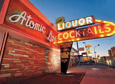Atomic Liquors boasts a fantastic beer selection, great cocktails and an old-Vegas vibe.