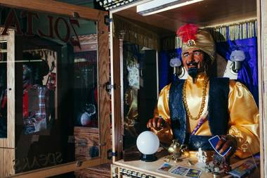 A Zoltar fortune teller machine inside Characters Unlimited Warehouse in Boulder City, NV on July 8, 2016.