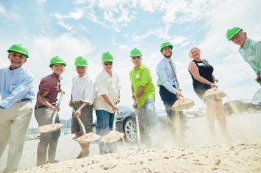 Urban Seed broke ground on a farming facility just west of the Las Vegas Strip July 29.