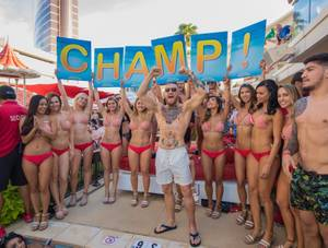 Conor McGregor & Dillon Francis at Encore Beach Club, August 21
