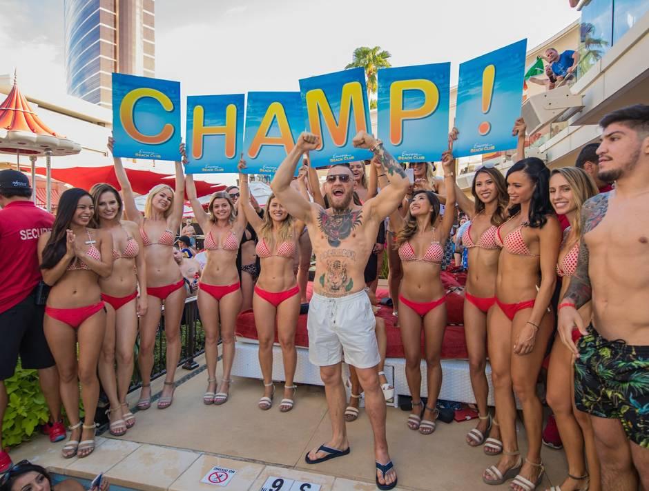 Conor Mcgregor Dillon Francis At Encore Beach Club August 21