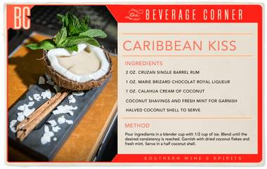 Move over, piña coladas and Mai Tais. In the realm of festively elaborate tropical cocktails, the Caribbean Kiss is now reigning supreme.