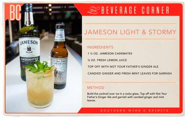 "Crisp and refreshing, while still being indulgently rich, ""Light & Stormy"" is the perfect name for this cocktail."