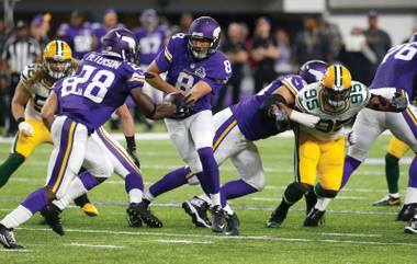 Quarterback Sam Bradford (8) and his Minnesota mates haven't convinced bettors to back the Vikings in bulk.