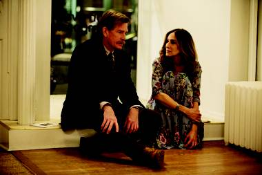 Thomas Haden Church and Sarah Jessica Parker, knives out.