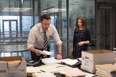 Ben Affleck (with Anna Kendrick) plays an autistic accountant with advanced combat skills thanks to his military commander father.