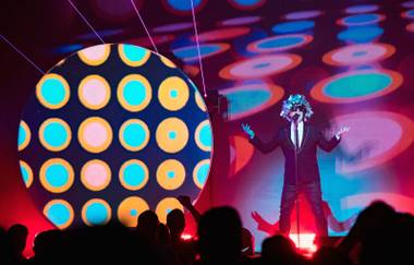 The Pet Shop Boys perform at the Chelsea.