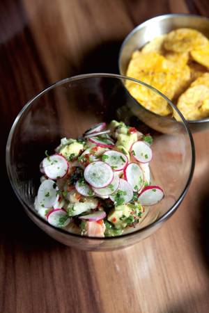 S&P's seafood ceviche.