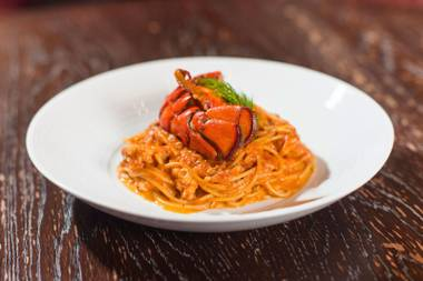 Red Square's lobster spaghetti.