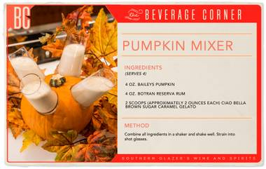 This fun, festive cocktail is just the thing to kick off the holiday party season and bring some lighthearted, autumn-themed joy to the table.