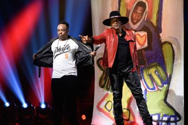 A Tribe Called Quest performs on SNL.