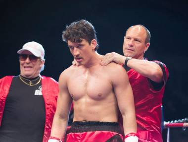 Miles Teller plays Vinny Pazienza in Bleed for This.