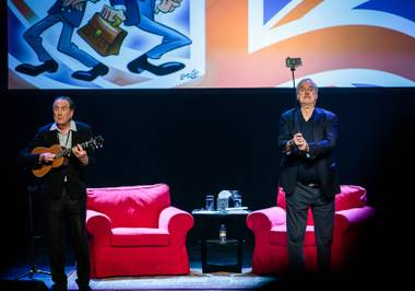 The Monty Python legends recount their career and greatest bits during the first of two shows at the Venetian.