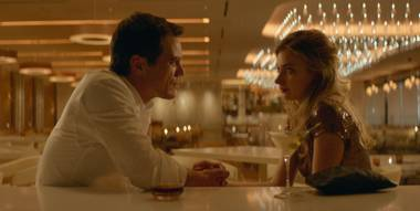 Michael Shannon and Imogen Poots (in a well-known Vegas restaurant!) in Frank & Lola.