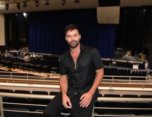 Ricky Martin in his new Vegas home, the Park Theater at Monte Carlo.
