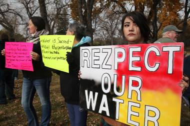 Protestors against the Dakota Acess Pipeline hold the line in North Dakota.