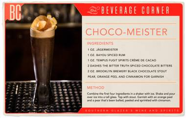 Rich, refined and filled with chocolate—this cocktail is more reminiscent of artisanal dark chocolate than it is of your typical candy bar.