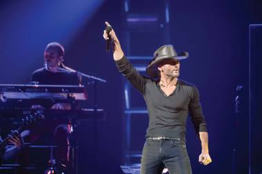 Tim McGraw at MGM Grand Garden Arena.