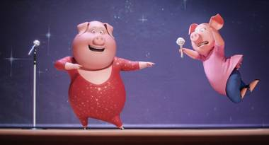 Sing is basically American Idol with animated anthropomorphic animals.