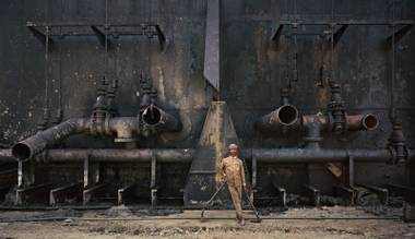 """Shipbreaking #23, Chittagong, Bangladesh, 2000,"" from ""Oil."""