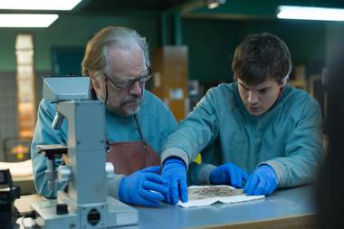 Tommy (Brian Cox) and Austin (Emile Hirsch) confront a medical mystery.