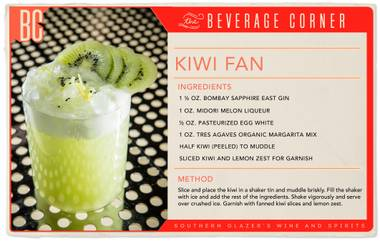 Any cocktail that can cool down a summer day in Las Vegas is an ace in our book, and the Kiwi Fan is just the ticket.
