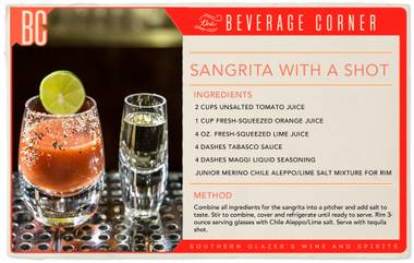 If your only experiences with tequila shots include licking salt off your hand and slipping a lime wedge between your teeth, let us introduce sangrita.