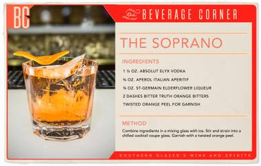 The Soprano is ideal for vodka enthusiasts, TV-mafia aficionados and anyone who appreciates a stiff, well-crafted cocktail.