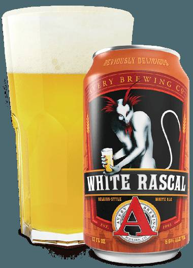 Avery Brewing's White Rascal Belgian-Style White Ale.