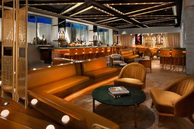 The new bar and lounge feels like a hybrid of Mad Men and The Jetsons.