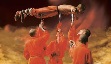 The Shaolin Warriors perform at the Smith Center's Reynolds Hall on February 20.