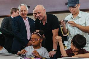 Agassi says his college-prep school will forever occupy a spot close to his heart.