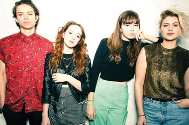 LA-based rock band the Regrettes performs on Saturday.