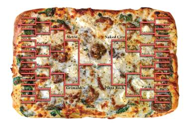 It's down to four. Pick the winners in the fourth round of our 32-pizza joint tourney.