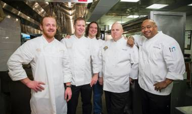 From left, chefs James Richards from Table 10, culinary director Sean Roe, Jean Paul Labadie from Emeril's New Orleans Fish House; Scott Pajak from Lagasse's Stadium and Ronnie Rainwater from Delmonico Steakhouse.