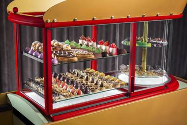 Tiny cream puffs and eclairs and bonbons, oh my.