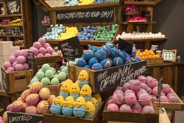 The new Lush is more than three times the size of its old location.