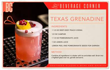 Everything is bigger in Texas, and while this is just a small cocktail, it packs a big punch.