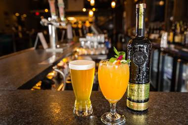 The St. Therapy, made with St. Germain, Grand Marnier, grapefruit and mango.